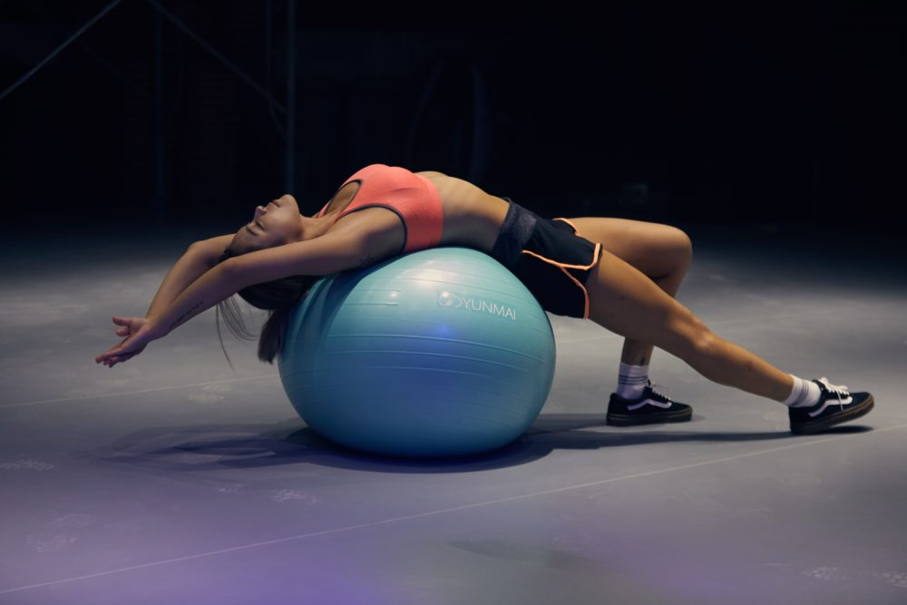 stability ball strong abs