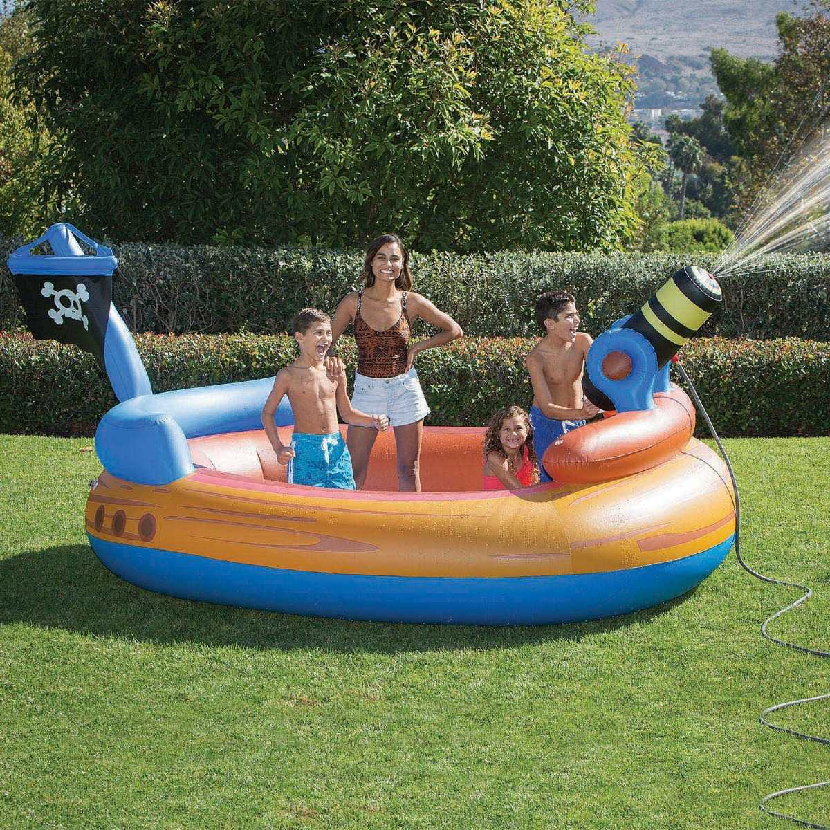 inflatable pirate pool
