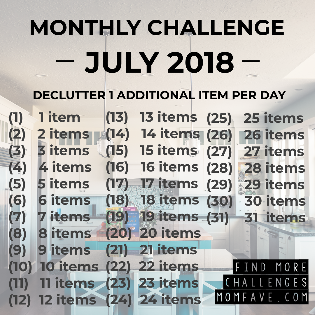 Cleaning Declutter Challenge