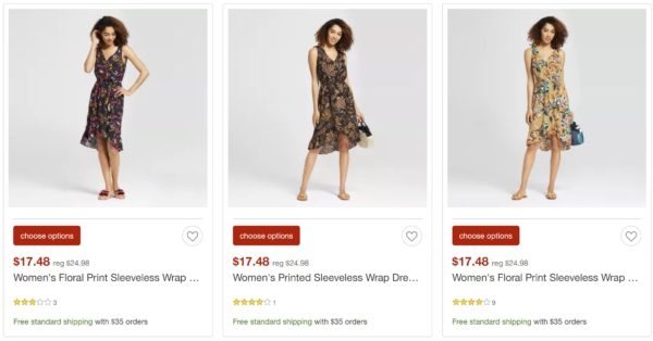 target clearance dresses