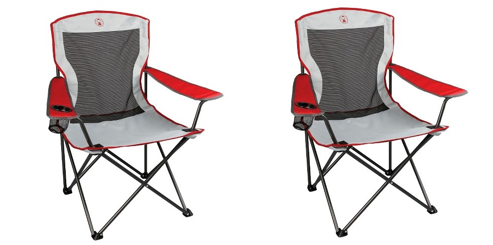 Target Deal Coleman Mesh Quad Camping Chair Just 12 59