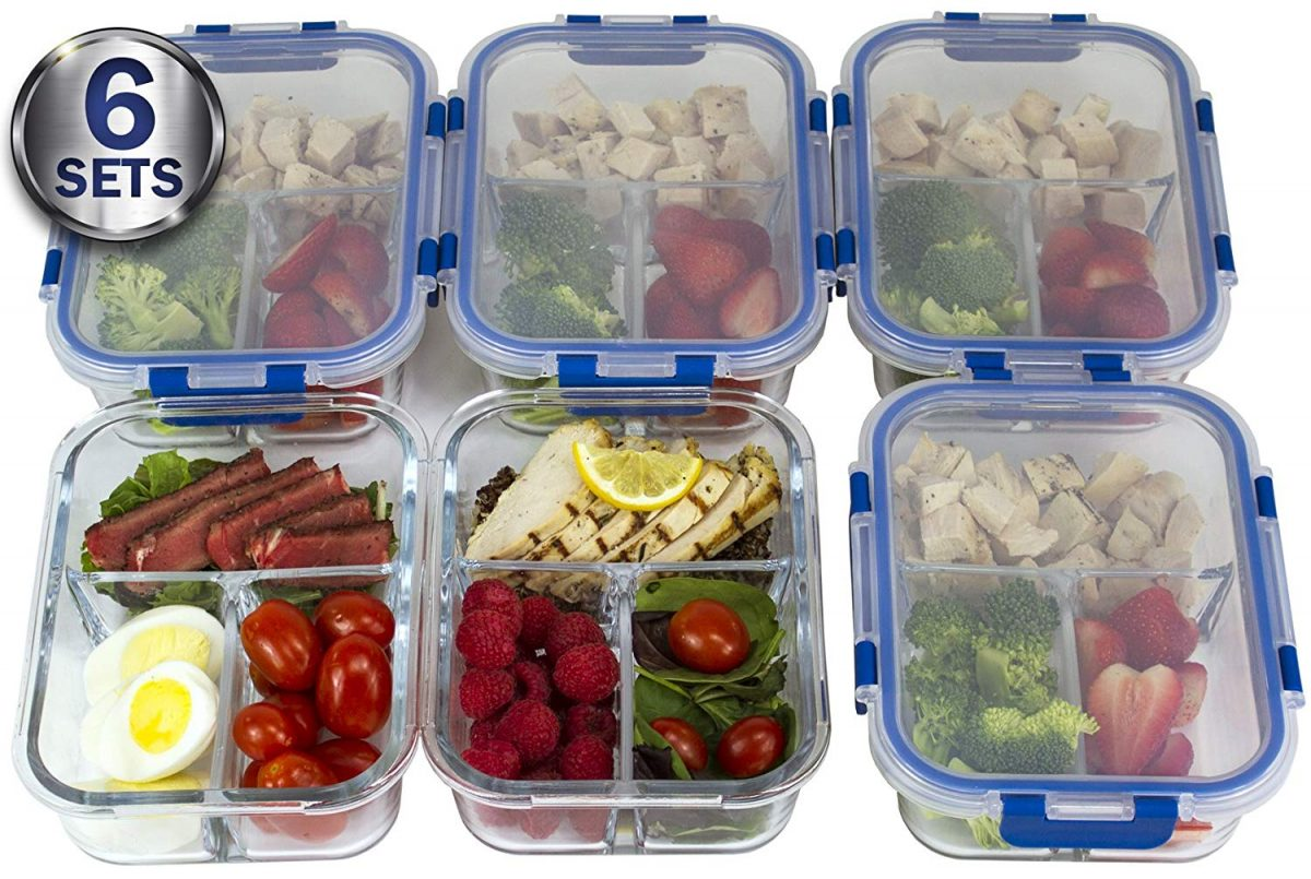 Glass Containers Food Storage Meal Prep
