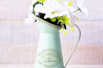 farmhouse watering can flower vase