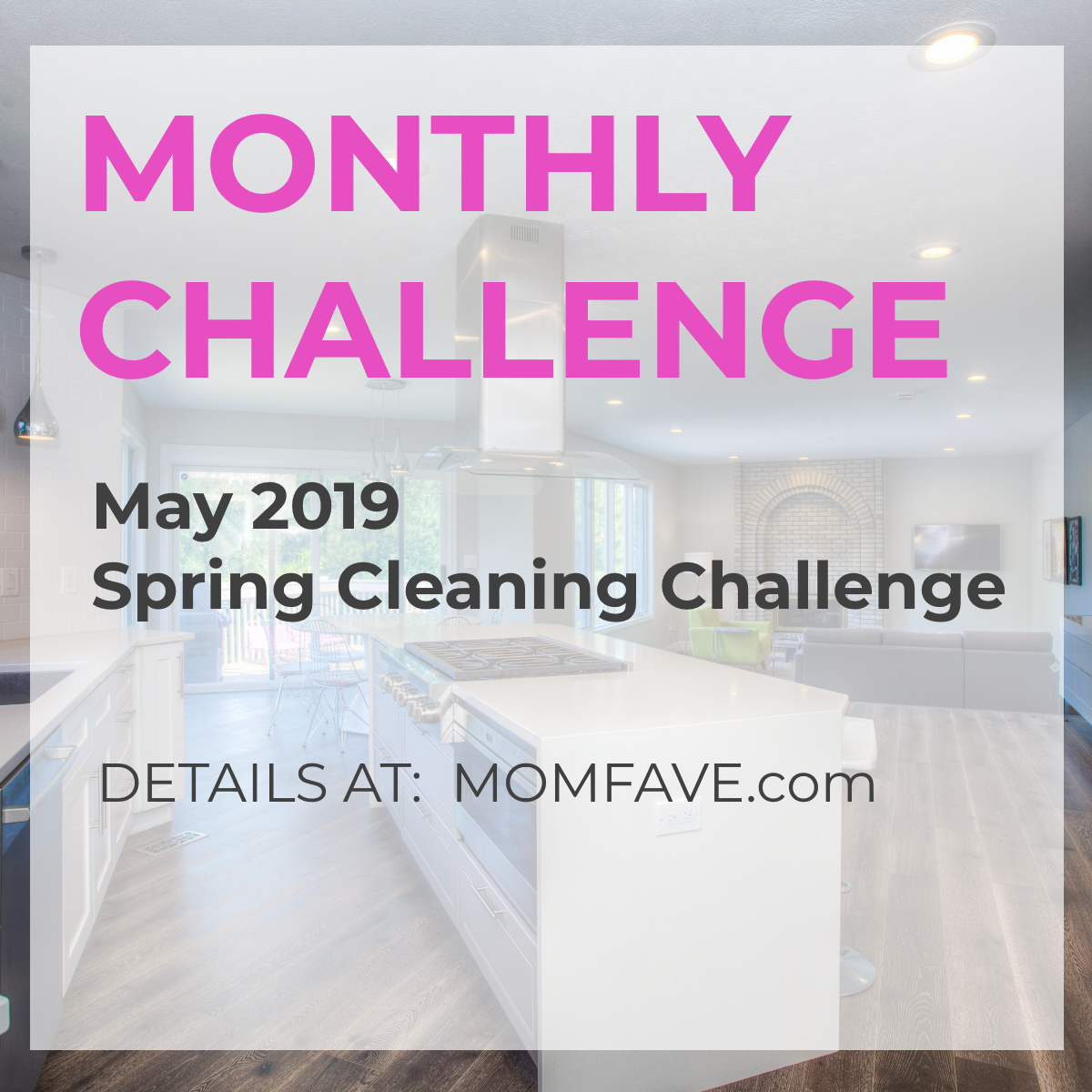 spring cleaning monthly challenge