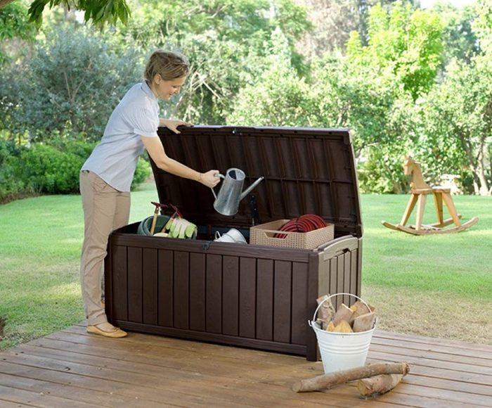 Keter Glenwood Plastic Deck Storage Container 2