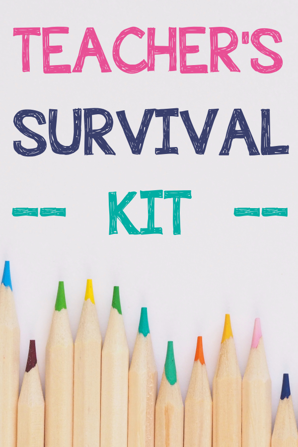 TEACHER'S SURVIVAL KIT BACK TO SCHOOL IDEA