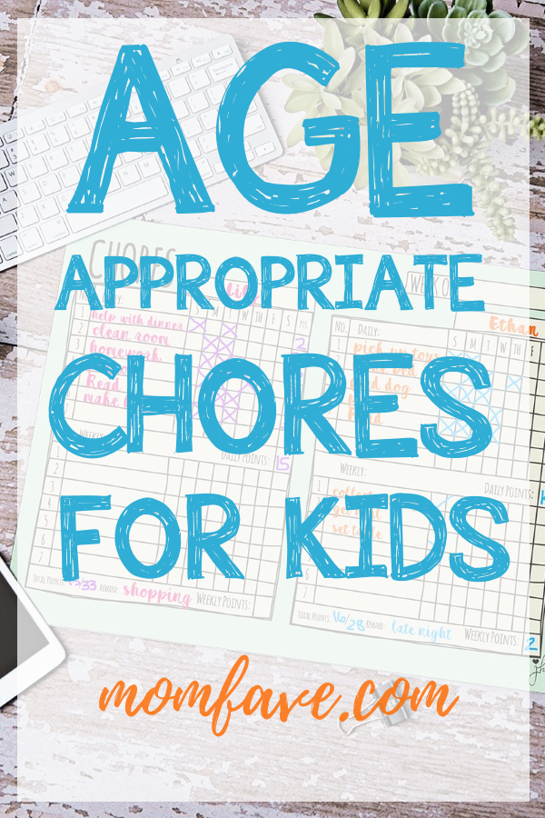 age appropriate chore chart momfave