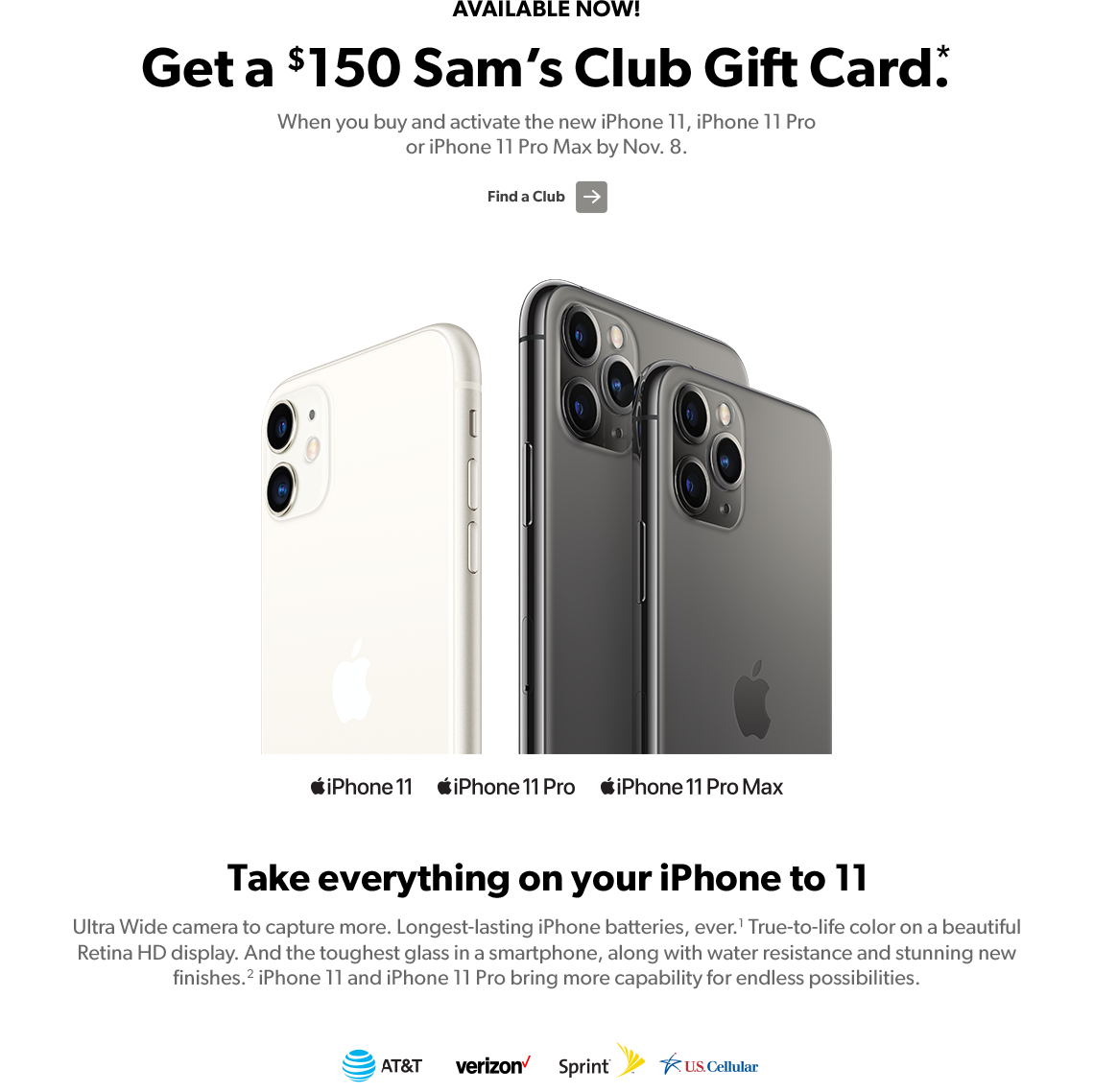 Sam's Club Gift Card iphone 11