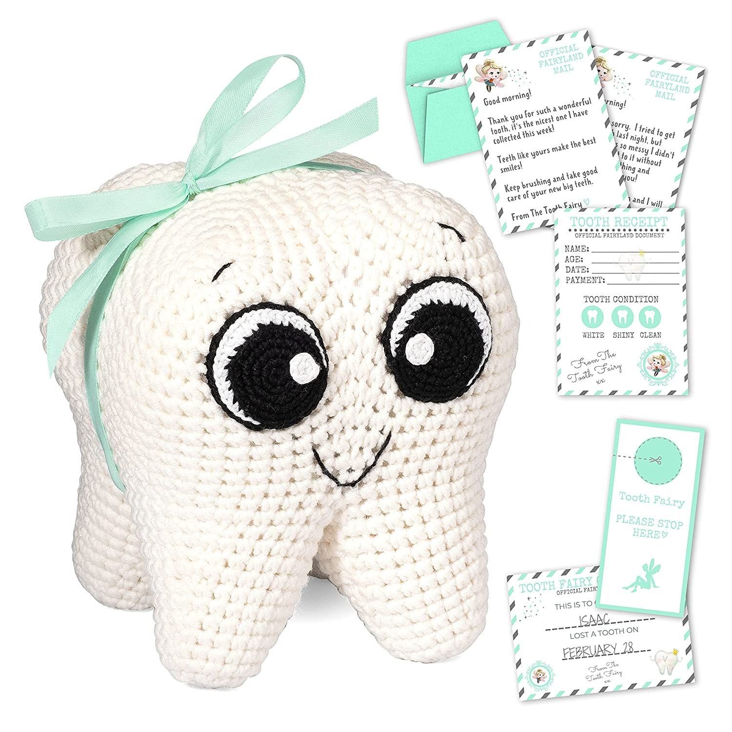 SOVANO Tooth Fairy Pillow Kit for Girls and Boys - Tooth Fairy Box and Tooth Fairy Kit and Keepsakes - Toothfairy Pouch for Lost Teeth and Money - Tooth