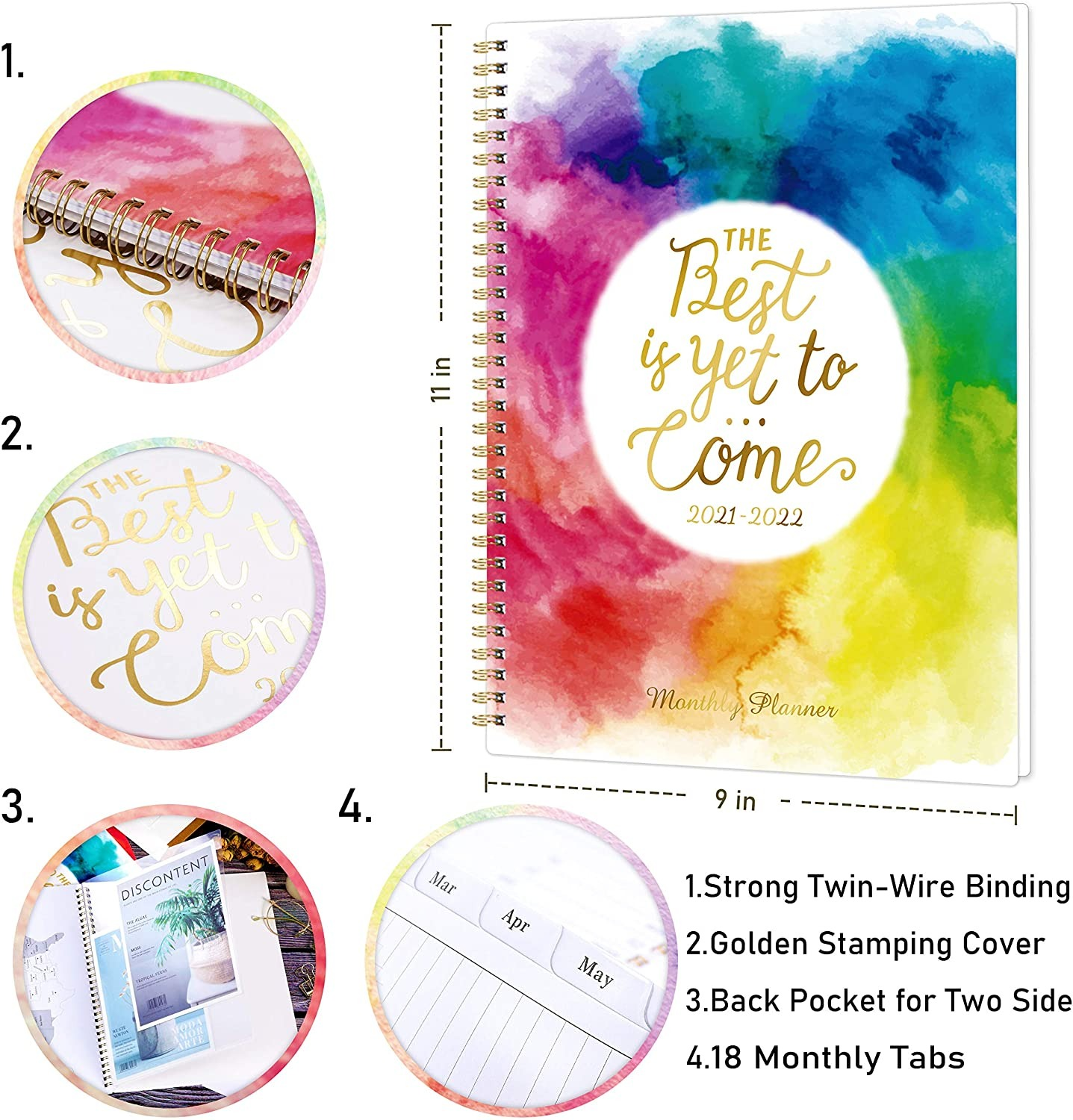 the best is yet to come 18 month monthly planner 4